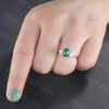 Natural vintage emerald engagement ring 01
