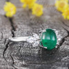 14K/18K Gold Fiorella Natural Emerald Diamond Ring