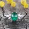 Natural vintage emerald engagement ring 01