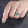Emerald Diamond Engagement Ring 03