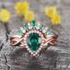 Emerald Diamond Engagement Ring 0