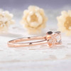 Rainbow Mooonstone Diamond Engagement Ring Rose Gold Unique Bridal Ring