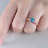 14K/18K  Vintage Black Opal Engagement Ring Diamond Band Promise Jewelry