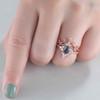 Diamond Halo Alexandrite Engagement Rings 03