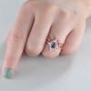 Diamond Halo Alexandrite Engagement Rings 05