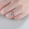 Diamond Halo Alexandrite Engagement Rings 06