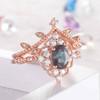Diamond Halo Alexandrite Engagement Rings 07