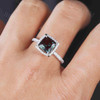 Princess Cut Alexandrite Diamond Engagement Ring 01
