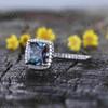 Princess Cut Alexandrite Diamond Engagement Ring 02