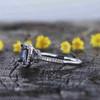 Princess Cut Alexandrite Diamond Engagement Ring 03