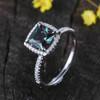 Princess Cut Alexandrite Diamond Engagement Ring 04