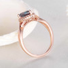 Alexandrite Engagement Ring 6x8mm Pear Shaped Infinity Ring Criss Cross