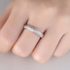 Moissanite Wedding Band Full Eternity Wedding Ring Stacking Ring