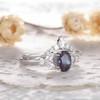 Alexandrite Engagement Ring Set 04