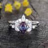 Alexandrite Engagement Ring Set 0