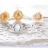 Opal Moissanite Engagement Ring 01