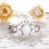 Opal Moissanite Engagement Ring 02