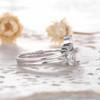 Opal Moissanite Engagement Ring 03