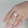 Opal Moissanite Engagement Ring 04