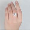 Opal Moissanite Engagement Ring 05