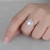 Opal Moissanite Engagement Ring 06