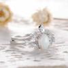 Opal Moissanite Engagement Ring 07
