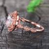 Moissanite Halo Engagement Ring 02