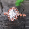 Moissanite Halo Engagement Ring 03