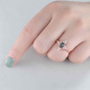 Vintage Black Rutilated Quartz Engagement Ring 01