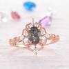 Vintage Black Rutilated Quartz Engagement Ring 08