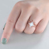 Opal And Diamond Ring-BBBGEM Opal Diamond Engagement Ring