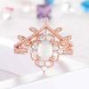 Opal Wedding Rings-BBBGEM Opal Diamond Engagement Ring