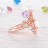Opal Diamond Engagement Ring-BBBGEM Opal Diamond Engagement Ring