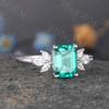 Emerald Cut Emerald Ring 03