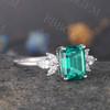 Emerald Cut Emerald Ring 06