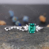 Emerald Diamond Engagement Ring 04