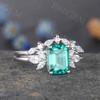 Emerald Diamond Engagement Ring 05