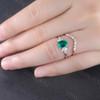 Emerald Diamond Engagement Ring 02