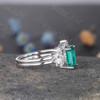 Emerald Diamond Engagement Ring 07
