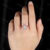 Vintage Moissanite Bridal Set Milgrain Filigree Rose Gold Antique Halo Engagement Ring