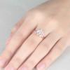 Vintage Oval Moonstone Engagement Ring Set Rose Gold Diamond Bridal Set