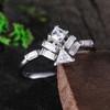 Vintage Moissanite Engagement Ring Unique Wedding Ring Proposal Ring