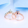 Pear Cut Black Opal Engagement Ring