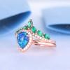 Blue Opal Rings-BBBGEM Blue Opal Rings