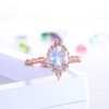 Rose Gold Moonstone Engagement Ring