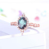 Alexandrite Ring Rose Gold Engagement Ring