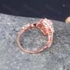 Rose Gold Moissanite Engagement Ring for Women