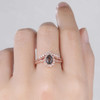 Pear Shaped Black Rutilated Engagement Ring