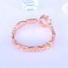 Floral Opal Ring Rose Gold Wedding Ring