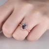 Alexandrite Ring Rose Gold Engagement Ring